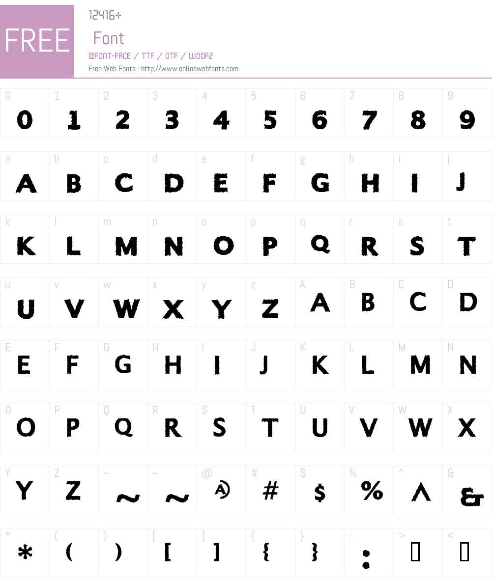 Alphabet Font Screenshots