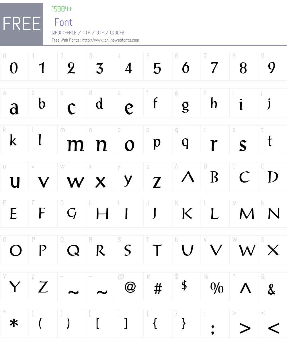 PortalAntiqua Font Screenshots