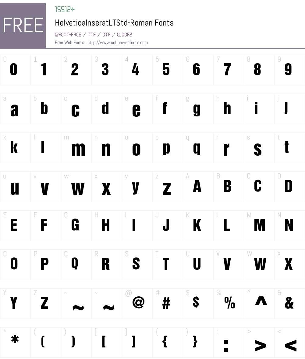 Helvetica Inserat LT Std Font Screenshots