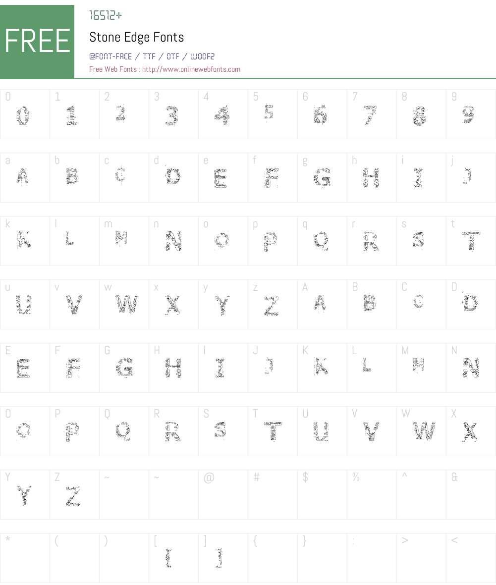 Stone Edge Font Screenshots