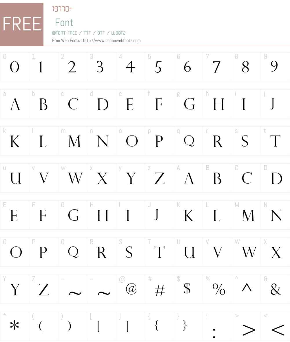 PerpetuaTitlingMTW01-Light Font Screenshots