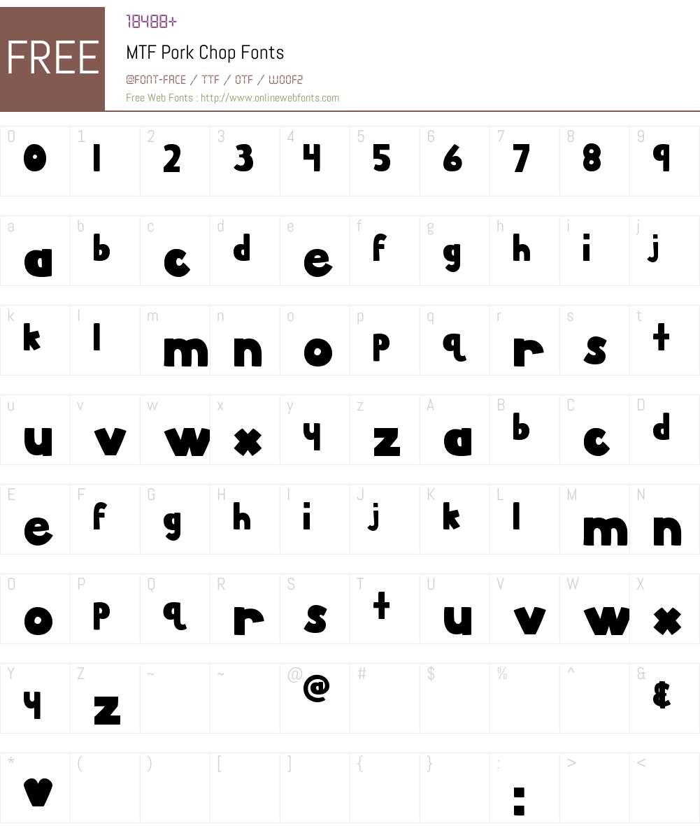 MTF Pork Chop Font Screenshots
