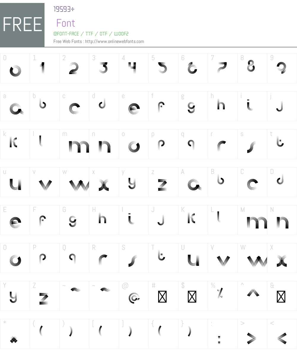 AfrobeatW00-Normal Font Screenshots
