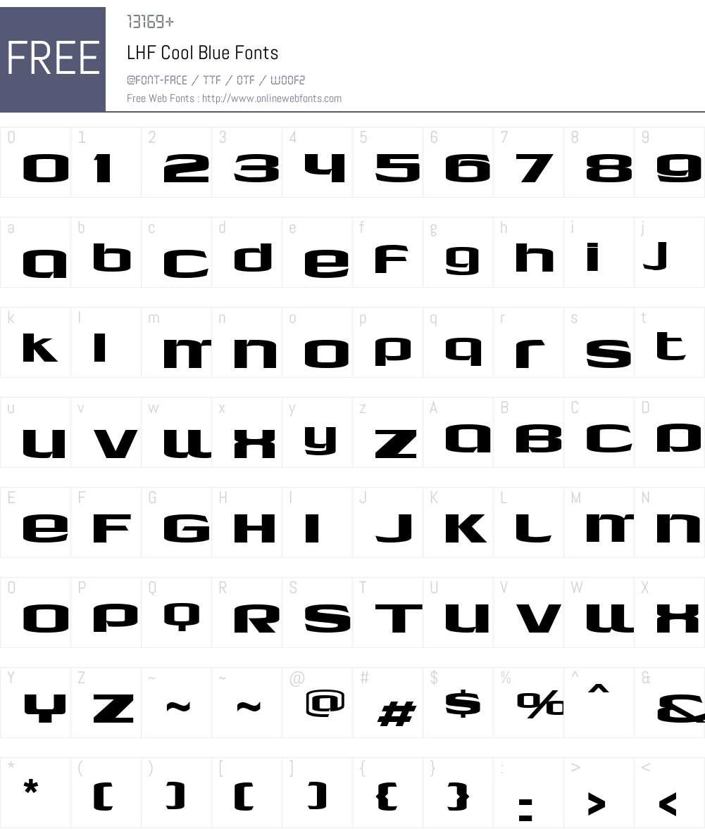 LHF Cool Blue Font Screenshots