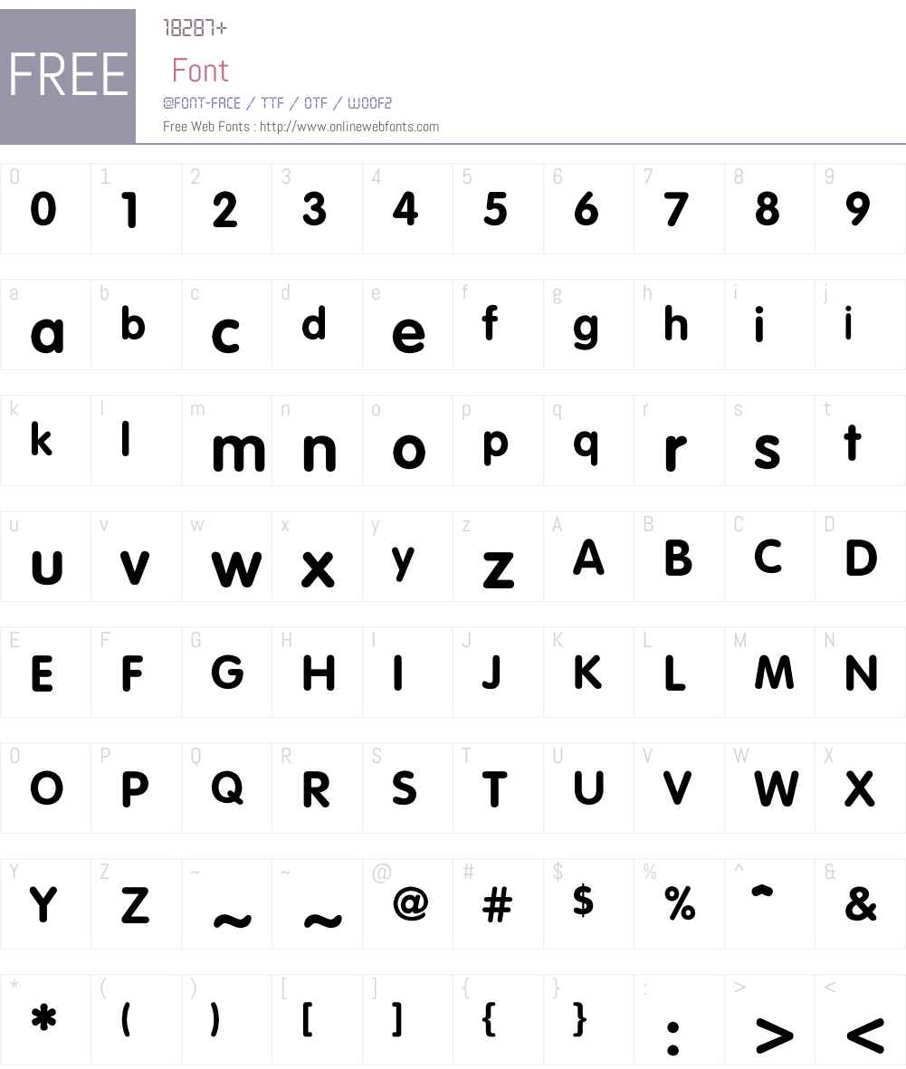 FZYiHei-M20T Font Screenshots