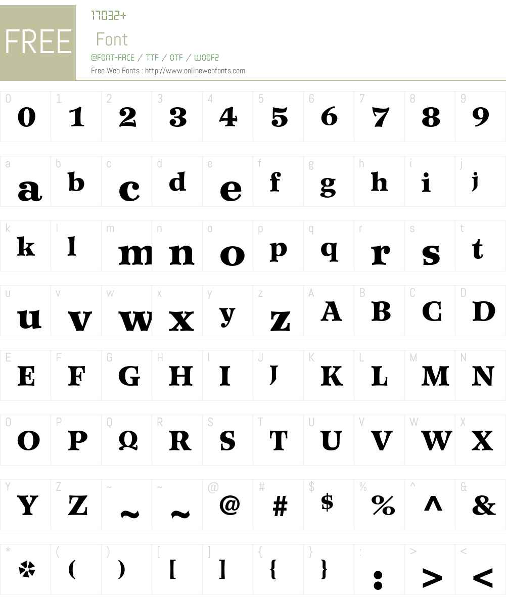 Wilke Font Screenshots