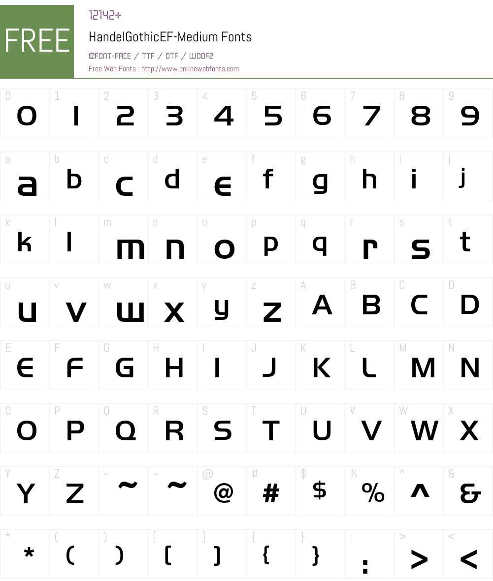HandelGothicEF Font Screenshots