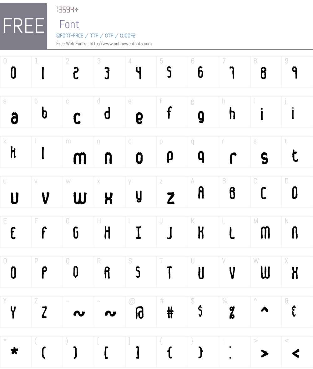 Dented BRK Font Screenshots