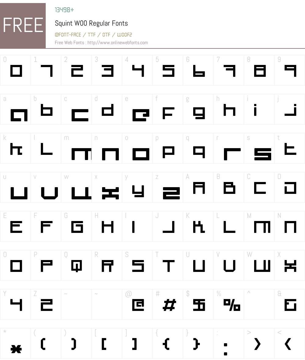 SquintW00-Regular Font Screenshots