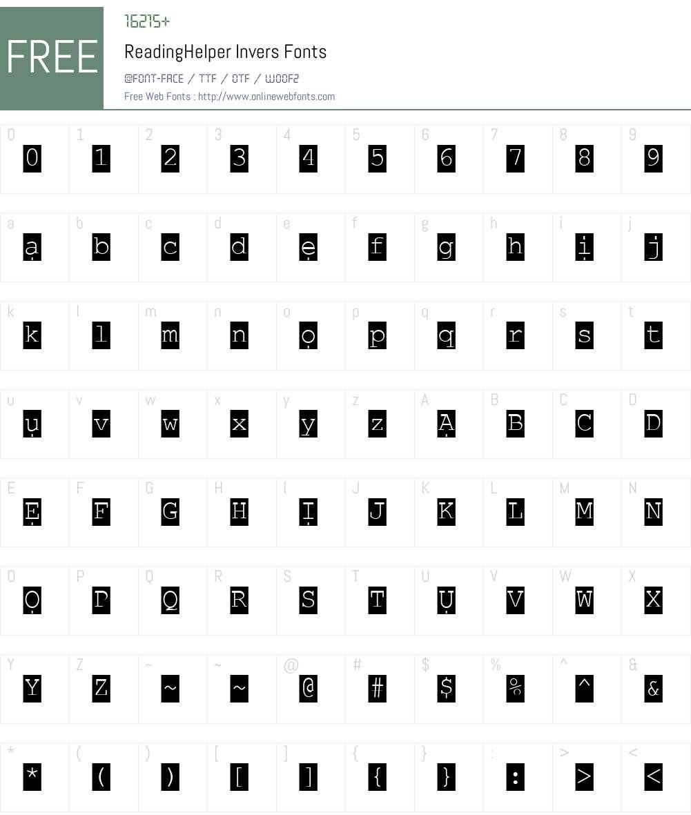 ReadingHelper Font Screenshots