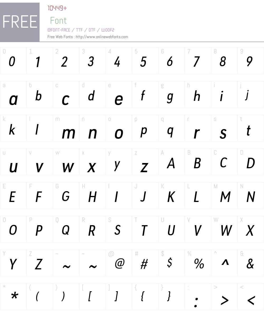 URW Geometric Condensed Font Screenshots