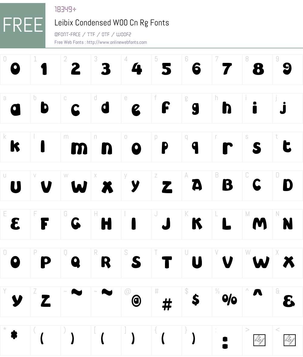 LeibixCondensedW00-CnRg Font Screenshots