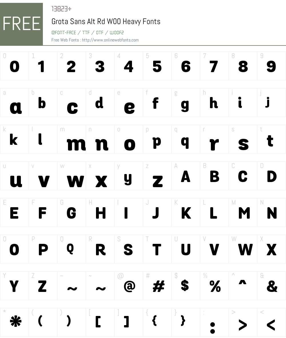 GrotaSansAltRdW00-Heavy Font Screenshots