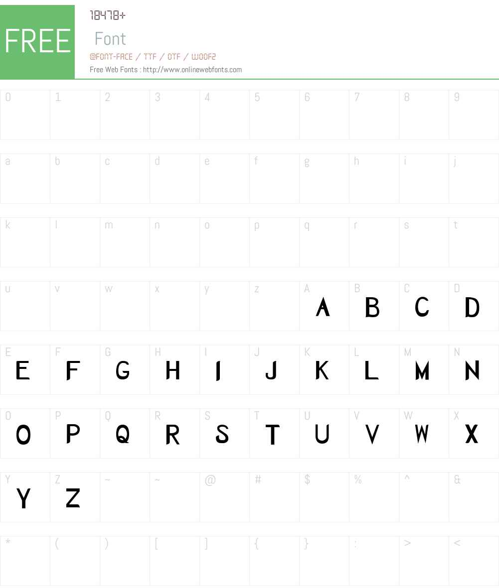 Herbaceous Font Screenshots