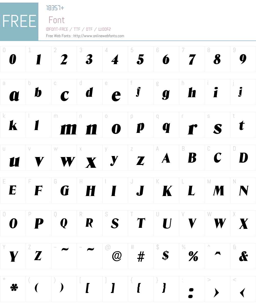 DenverSerial-Black Font Screenshots