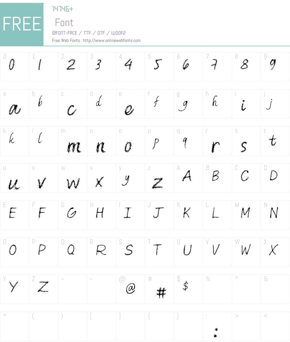 m Font Screenshots