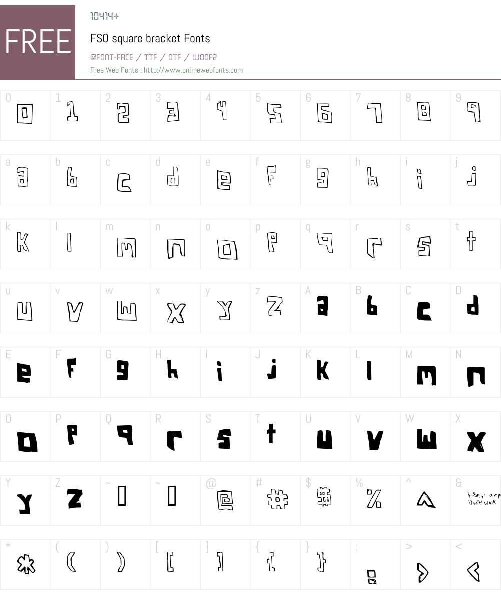 FSO square bracket Font Screenshots