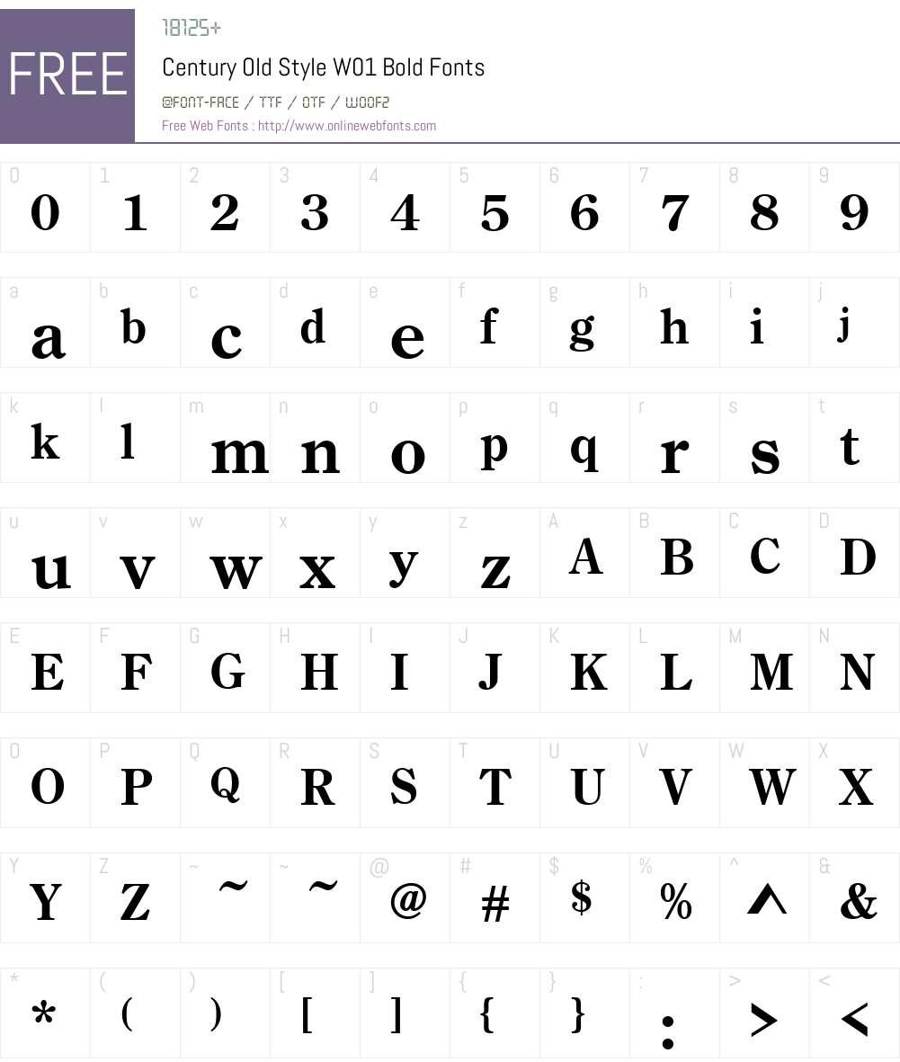 CenturyOldStyleW01-Bold Font Screenshots