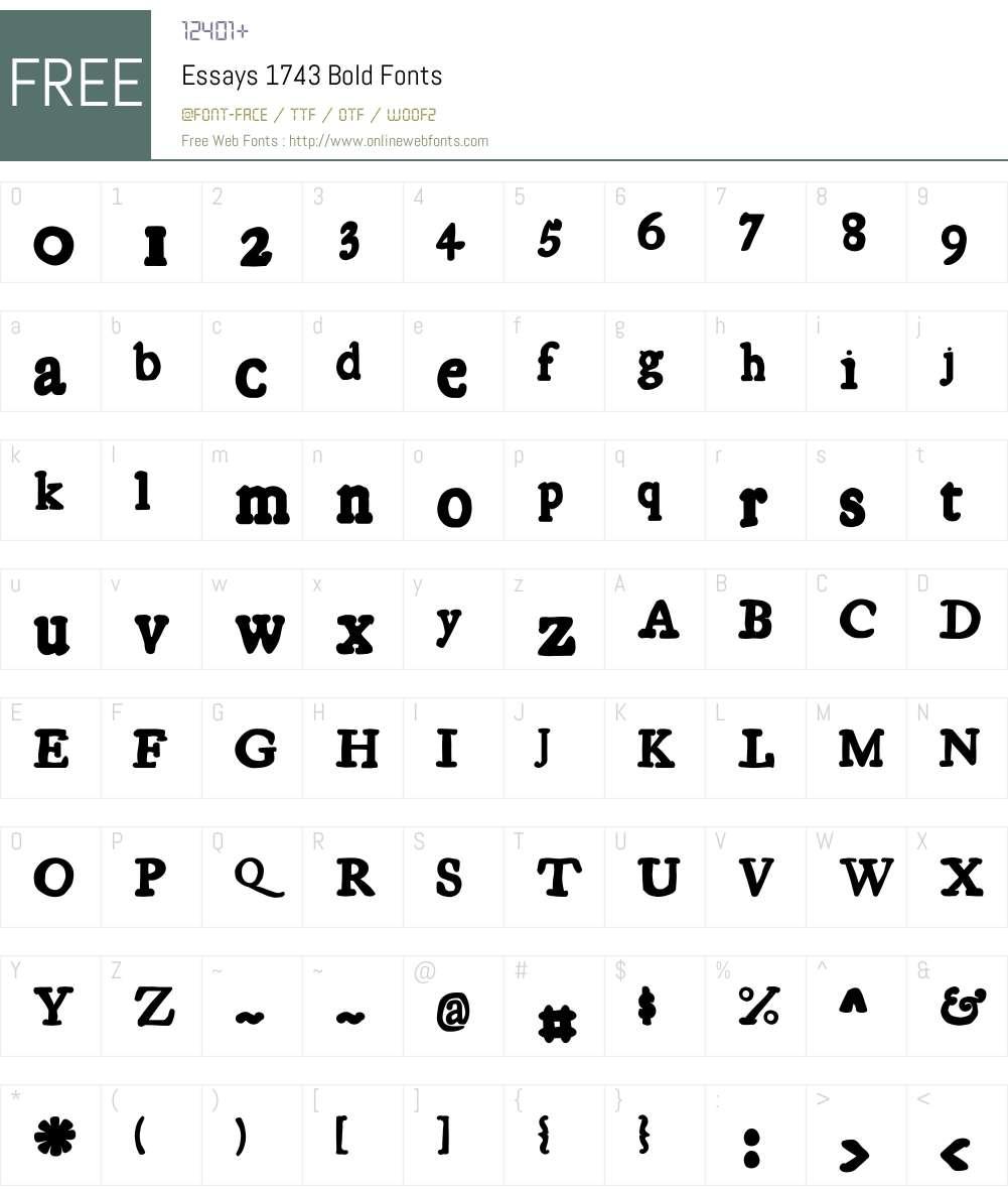 Essays1743 Font Screenshots