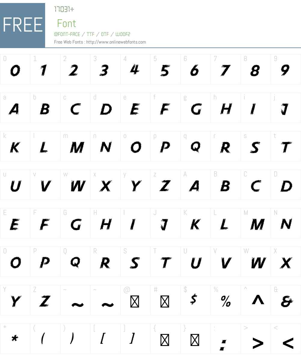 Pneuma Std Font Screenshots