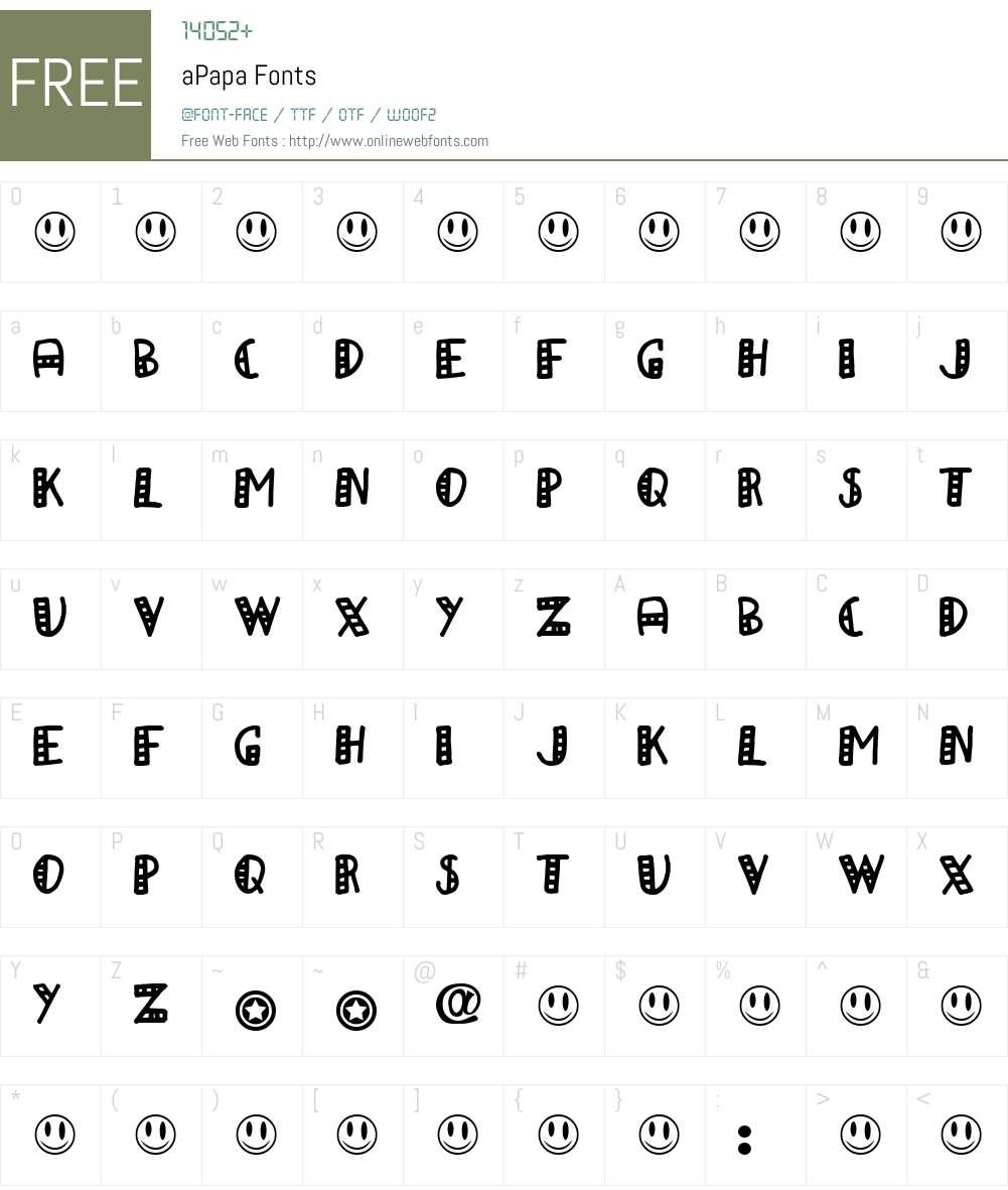 aPapa Font Screenshots