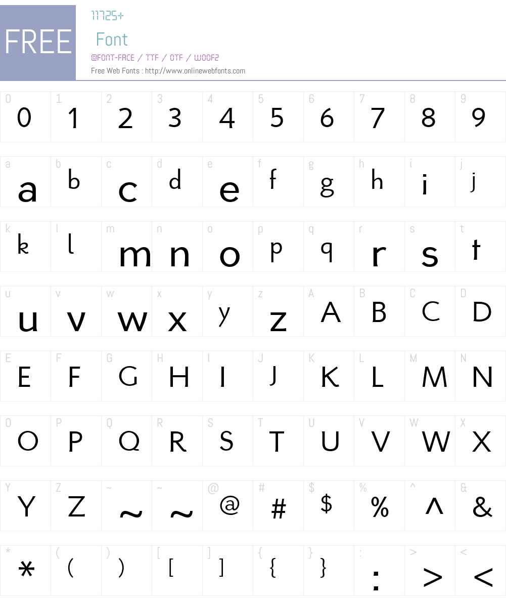 Ambigue Font Screenshots