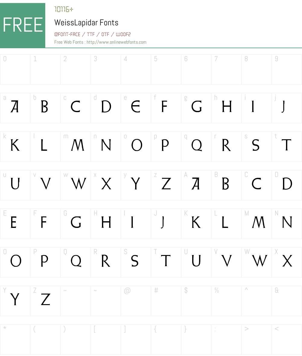 Weiss Lapidar Font Screenshots