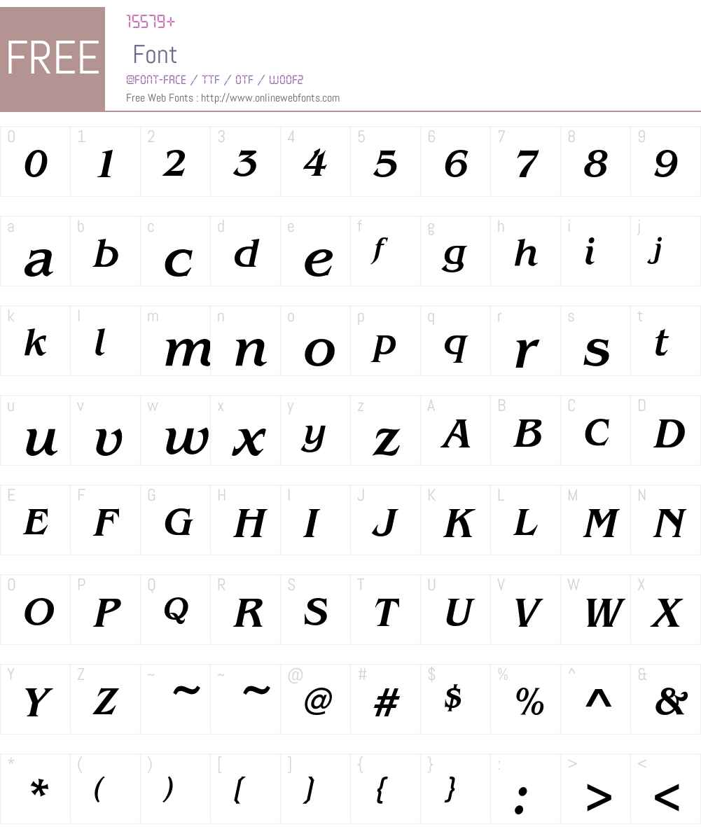 BenguiatEF-MediumItalic Font Screenshots