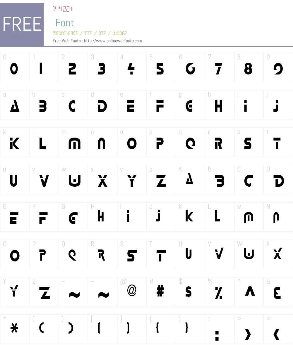 Delta-Condensed Font Screenshots
