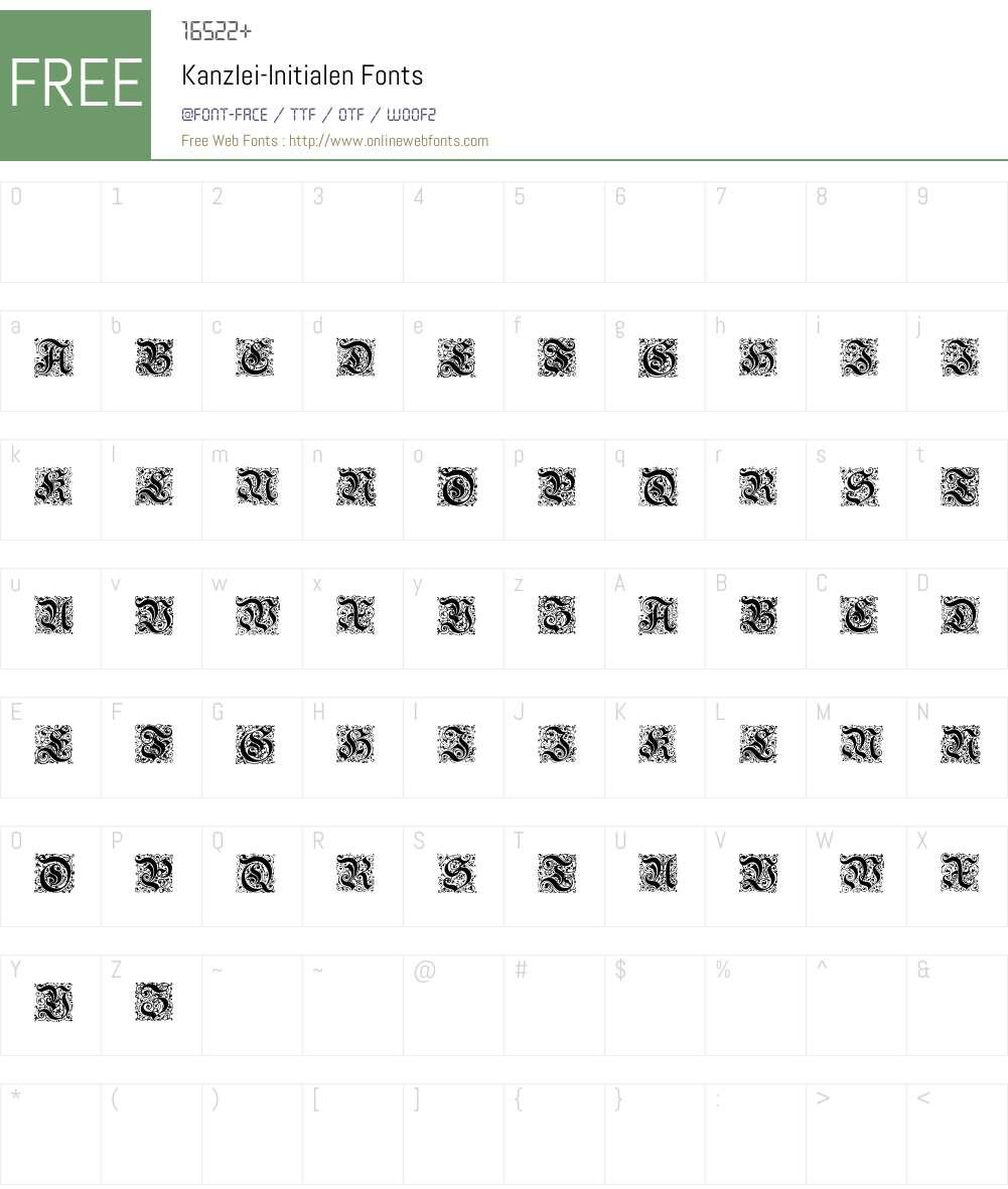 Kanzlei-Initialen Font Screenshots