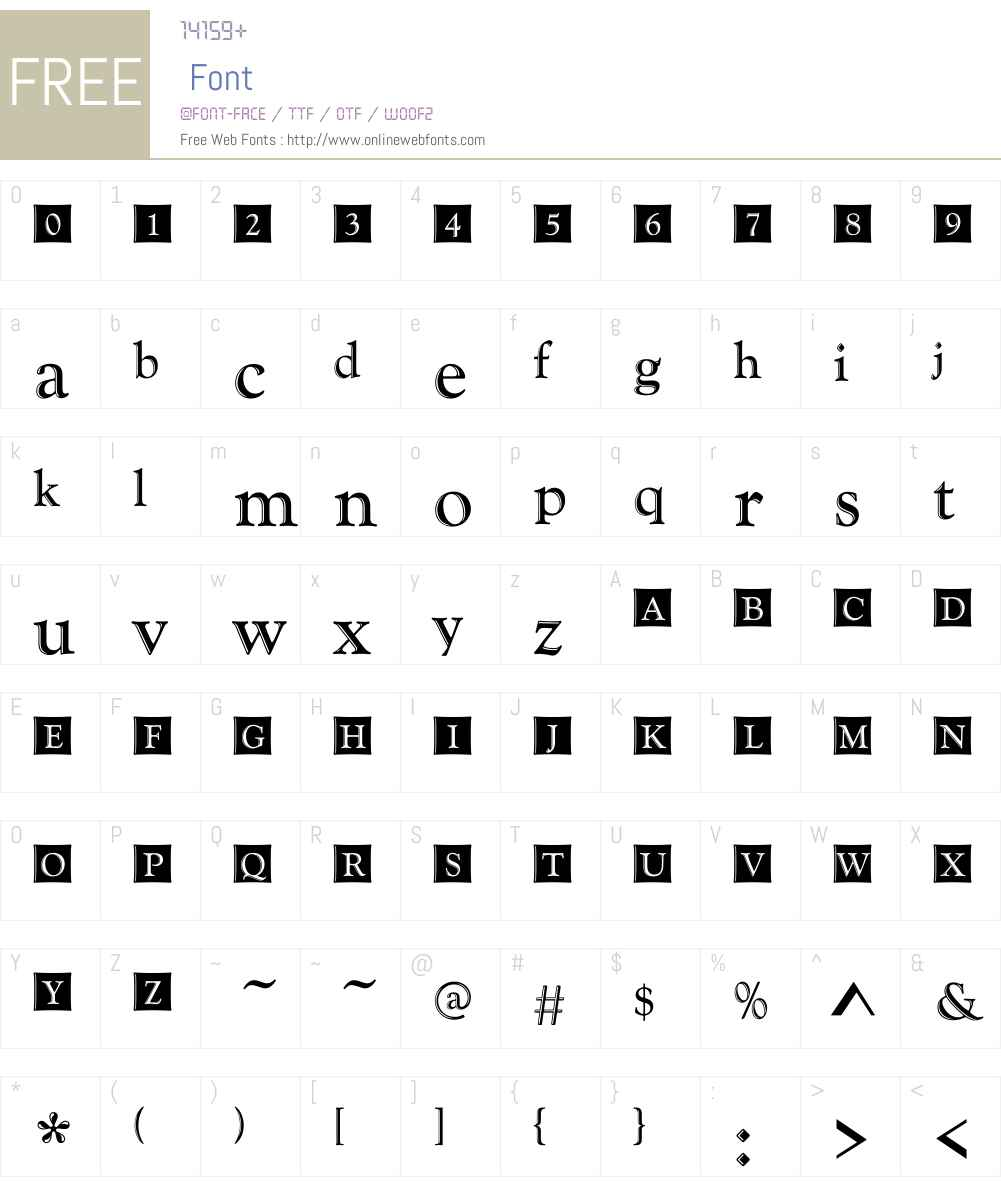 GoudyHandtooledW01-Initials Font Screenshots
