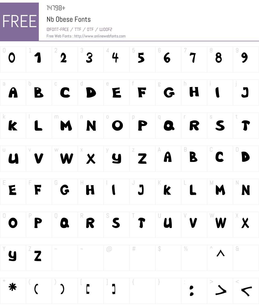 Nb Obese Font Screenshots