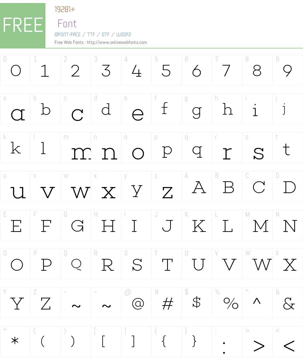Choplin ExtraLight Font Screenshots