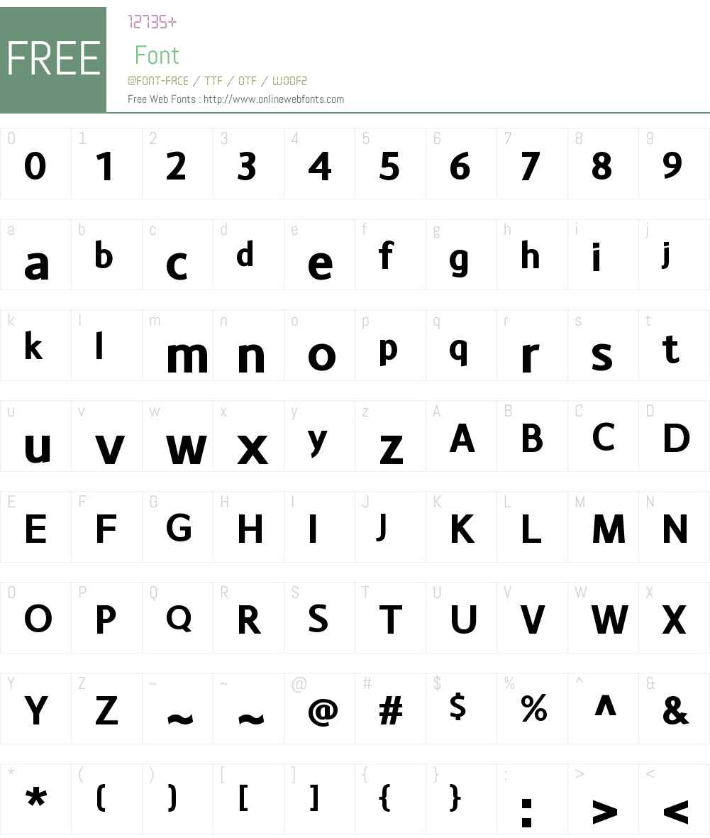 MonsalW00-Bold Font Screenshots