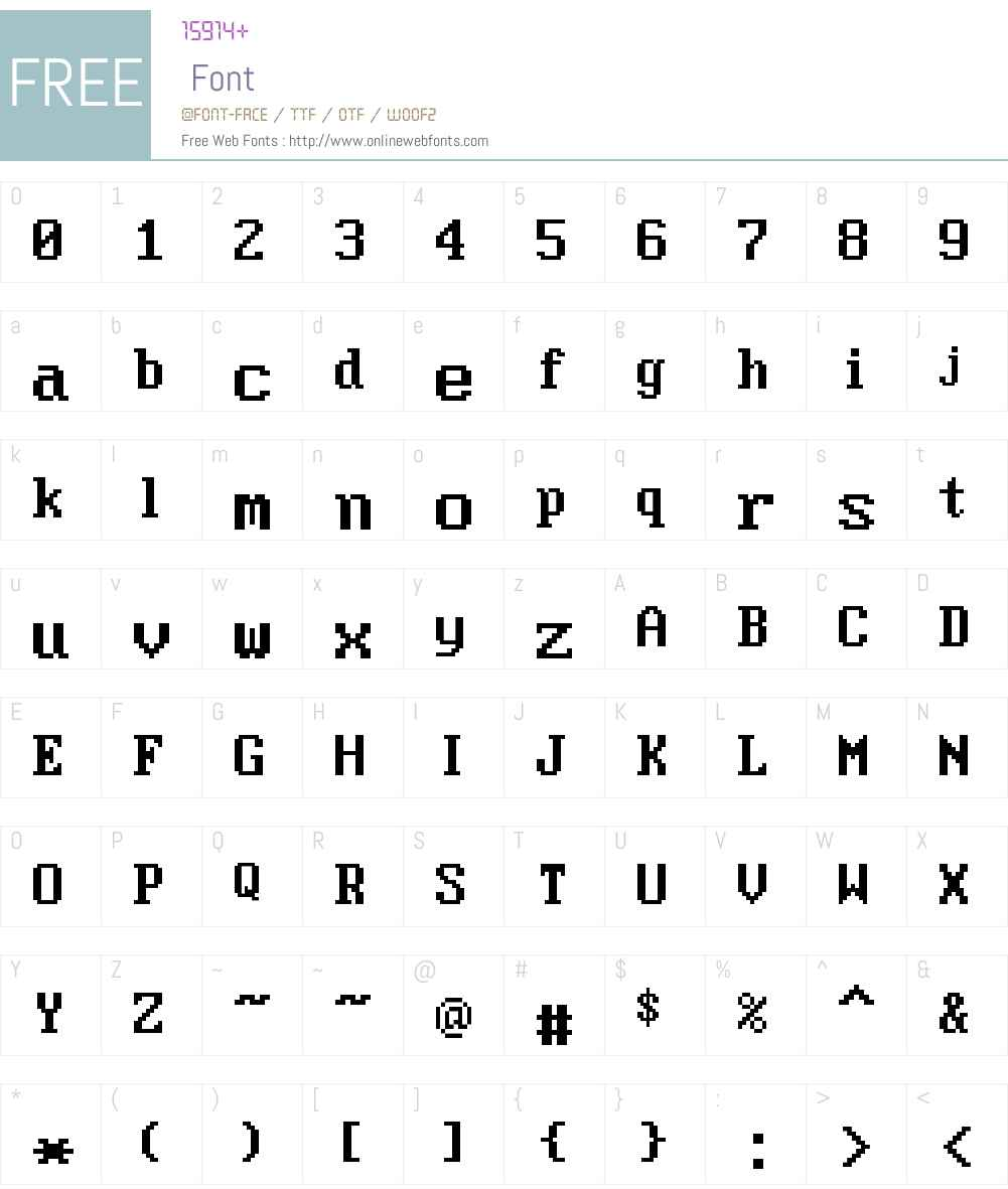 Moder DOS 437 Win Font Screenshots