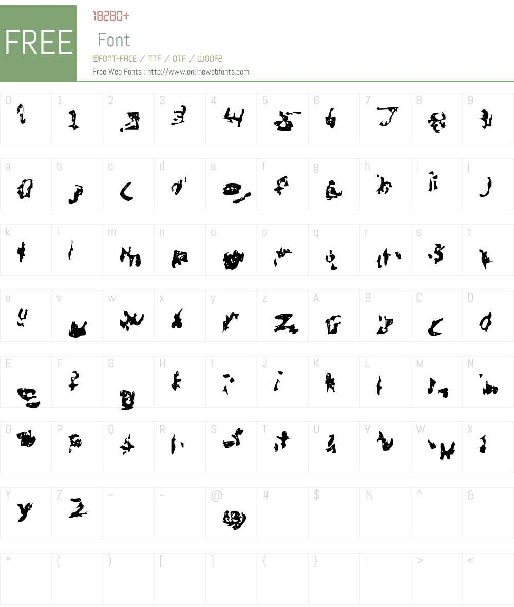 Menga Font Screenshots