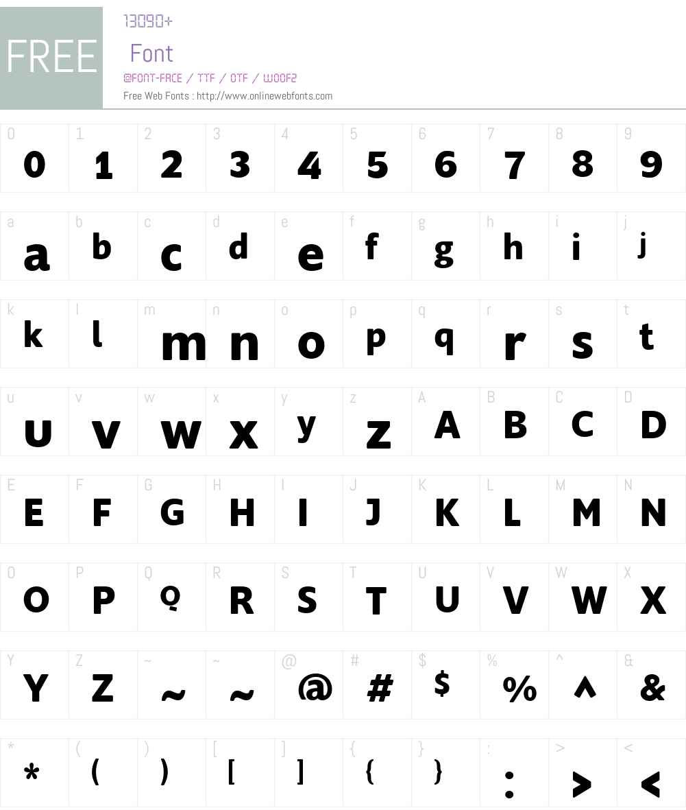 Supra Rounded Font Screenshots