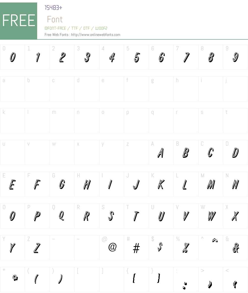 Xanten Font Screenshots