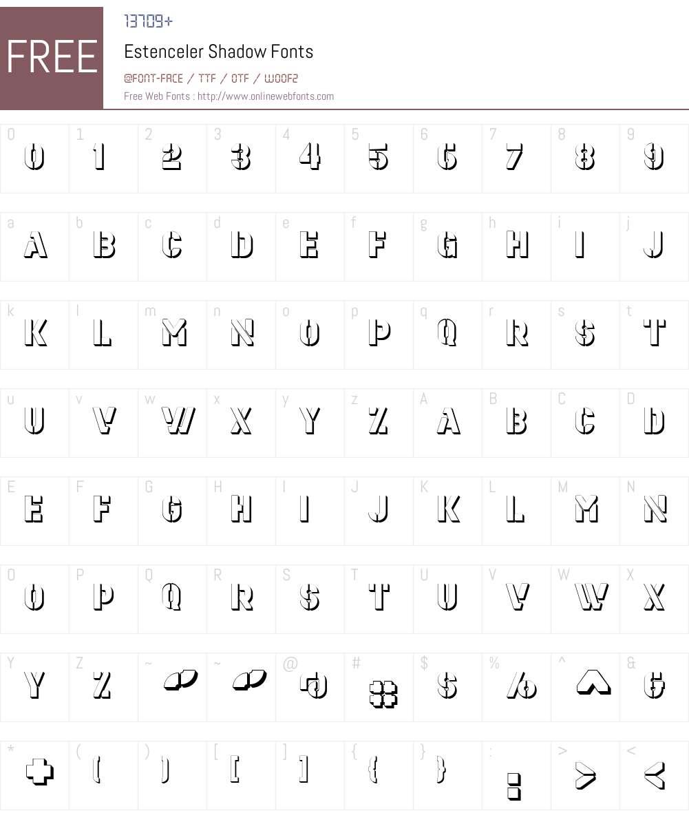 Estenceler Font Screenshots
