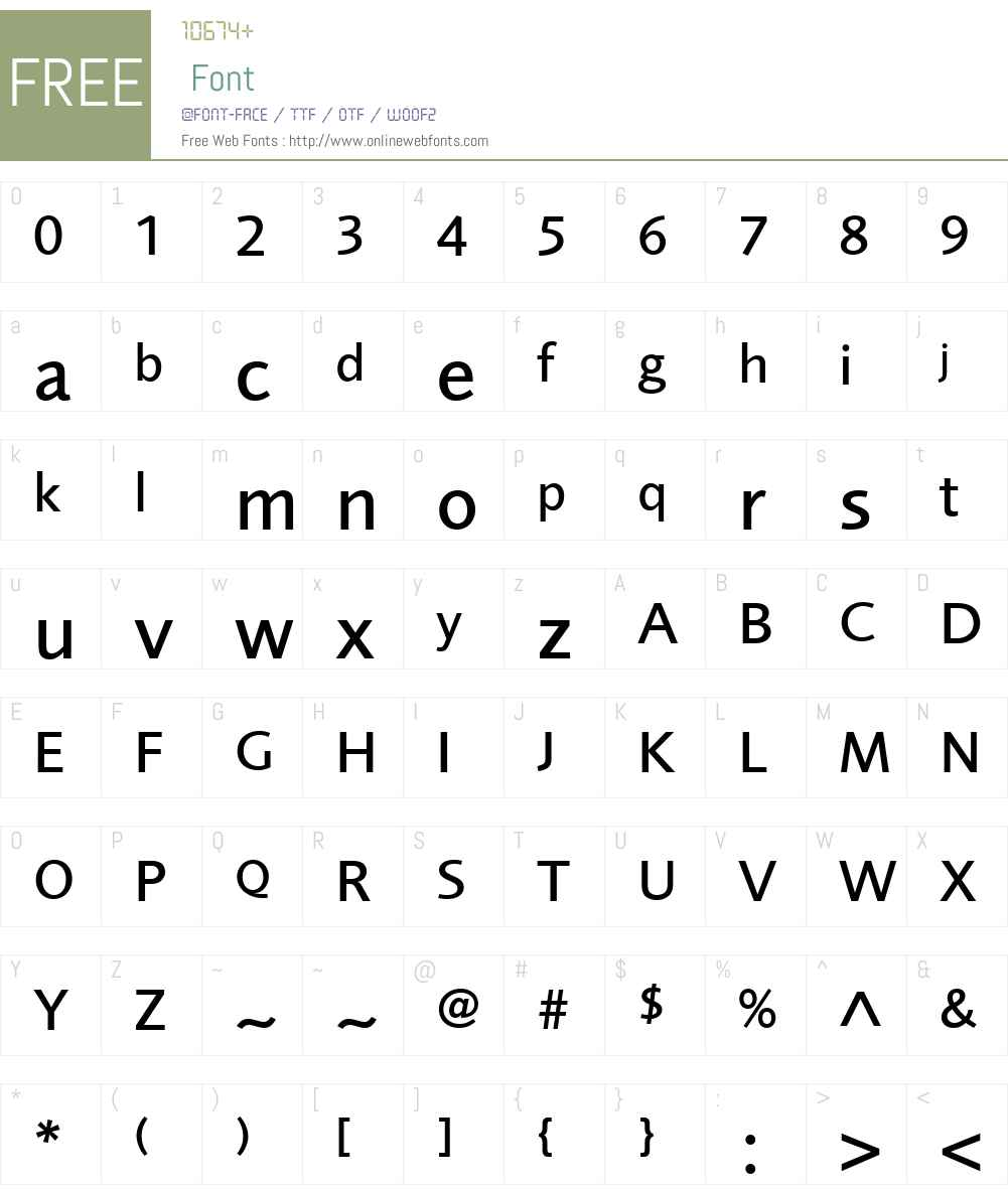 FoundrySansW08-Medium Font Screenshots