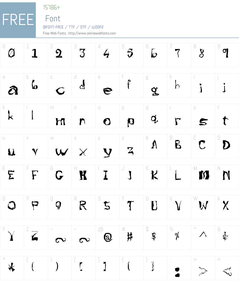 !Zugzwang Font Screenshots