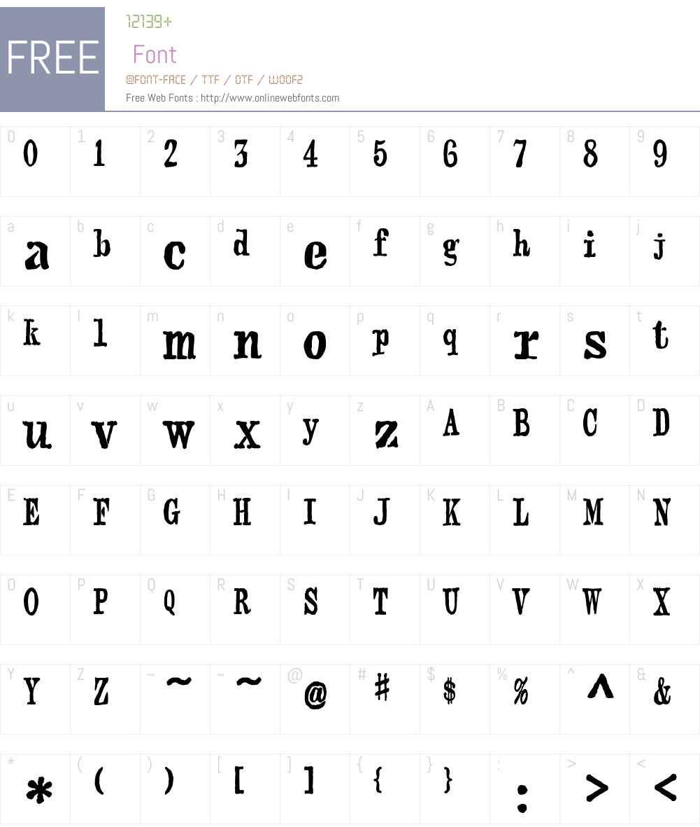 webster Font Screenshots