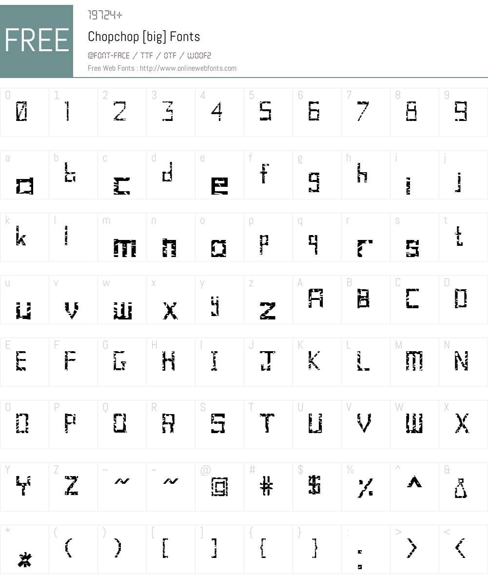Chopchop [big] Font Screenshots