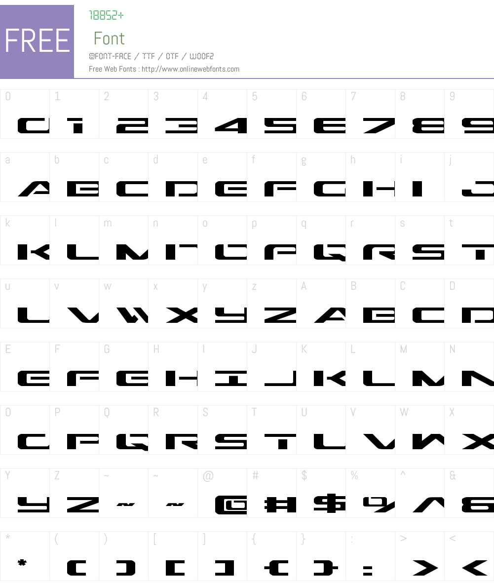 Outrider Expanded Font Screenshots