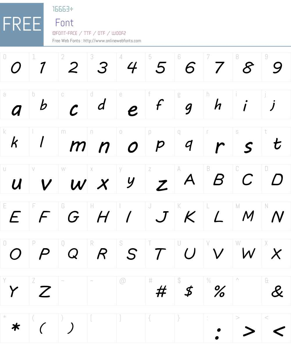 DLE Comic Lowercase Font Screenshots