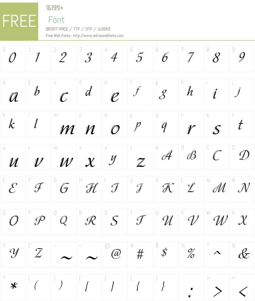 ElinaDecorW08-Regular Font Screenshots
