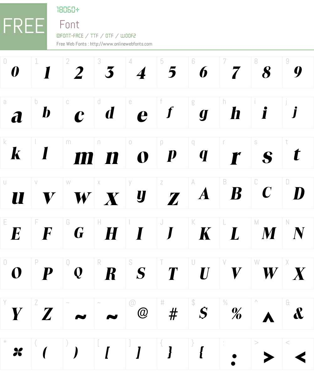 Itoledo Font Screenshots
