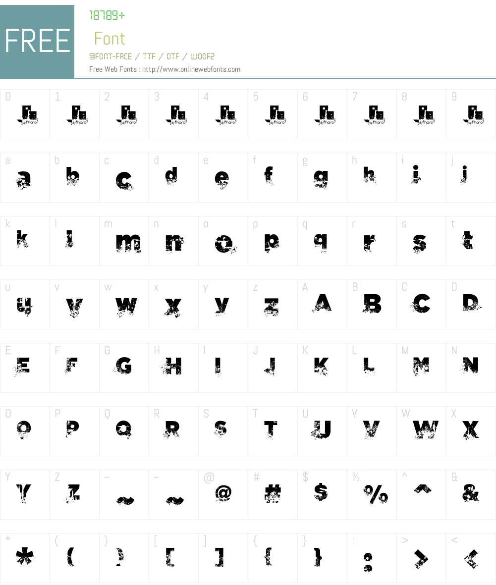 C.A. Gatintas Font Screenshots
