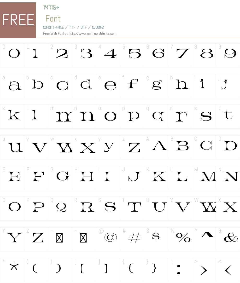 Jeames Font Screenshots