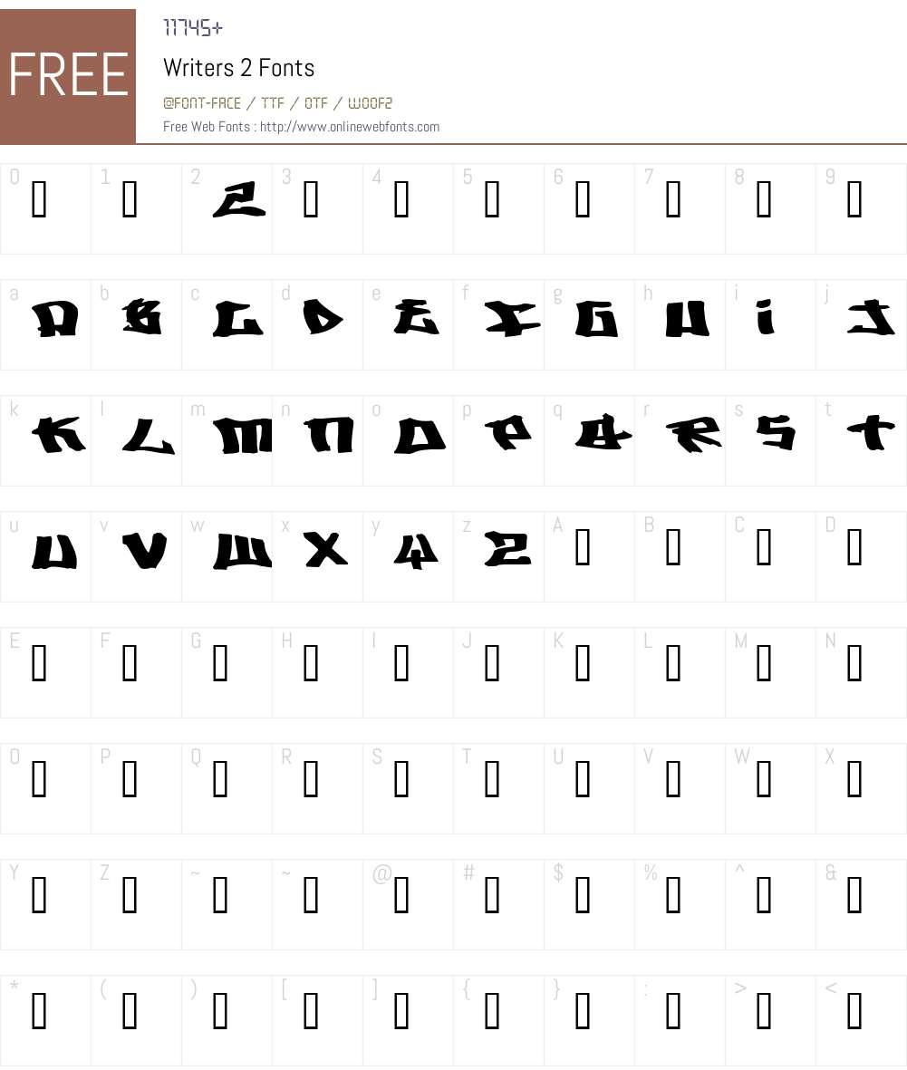 Writers 2 Font Screenshots
